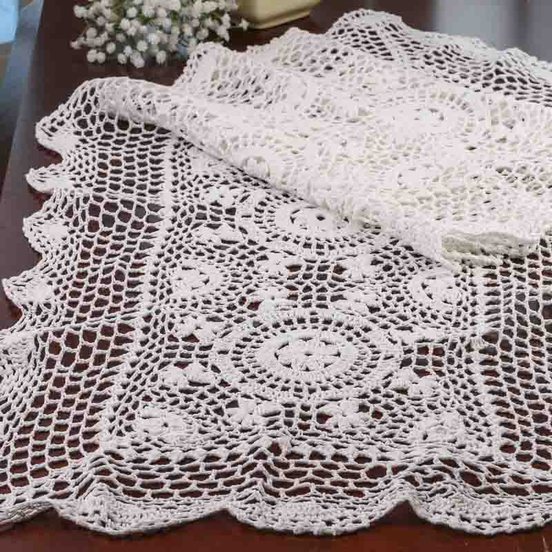 Crochet Table Runner : White Crocheted Doily Table Runner - Crochet and Lace Doilies - Home ...
