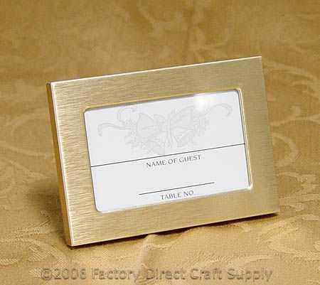 Gold Frame Placecard Holder