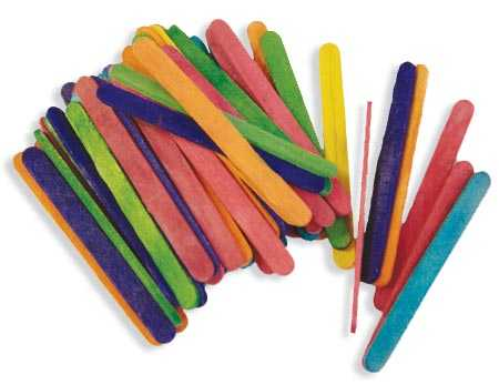 Small Multicolored Wood Craft Sticks Popsicle Sticks And