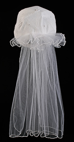 White Bride Baseball Cap With White Veil Party Amp Special