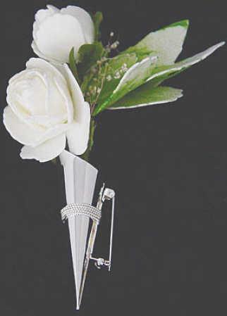 Gold Lapel Pin Vase