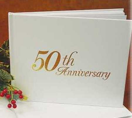 50th Wedding Anniversary Gift Ideas For Guests : 50th Wedding Anniversary Guest Registry Book Anniversary 25th and 50th