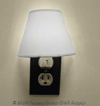 muslin lamp shade and night light kit lamp making basic craft. Black Bedroom Furniture Sets. Home Design Ideas