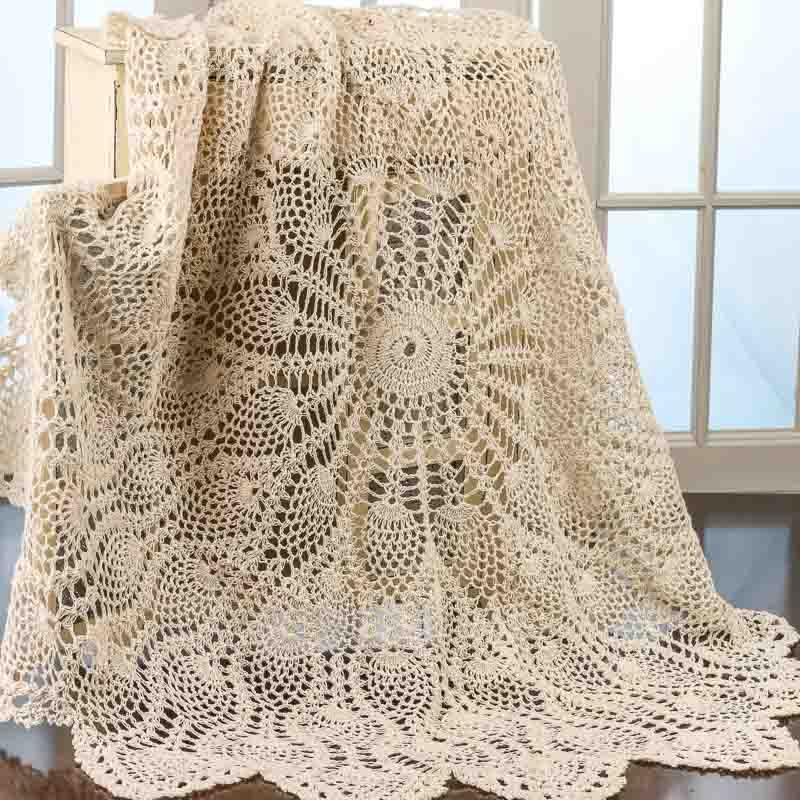 Ecru Round Crocheted Doily - Crochet and Lace Doilies - Home Decor