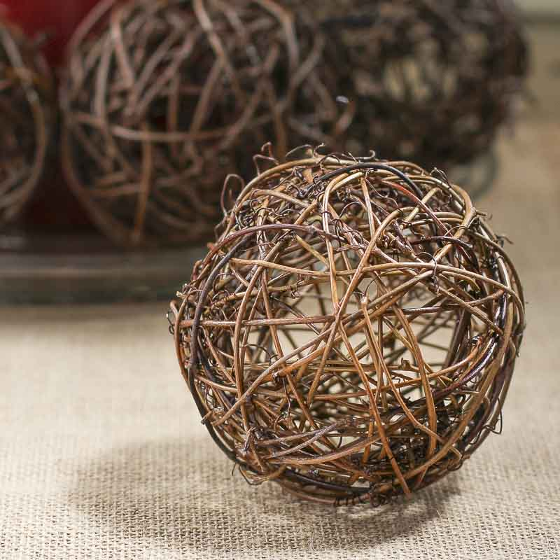 Natural Twig Grapevine Ball Vase And Bowl Fillers Home