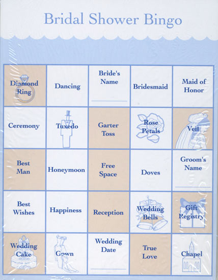 item 140571 bridal shower bingo cards the perfect game for your bridal ...
