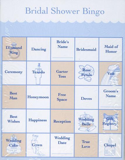 Striking image within printable bridal shower bingo