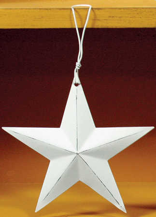 Distressed White Star Ornament Christmas Ornaments