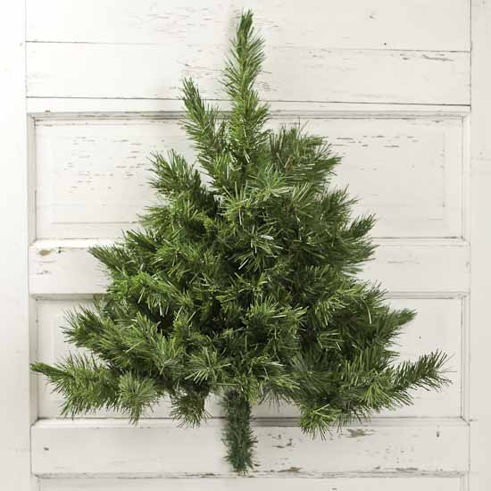 Wall-Mounted Half Artificial Pine Tree - Wall Decor - Home ...