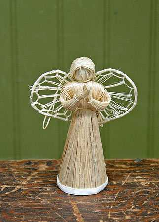 Abaca Straw Cone Angel Trees And Toppers Christmas And