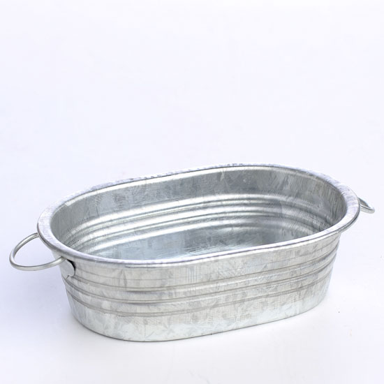 miniature galvanized metal oval wash tub miniatures