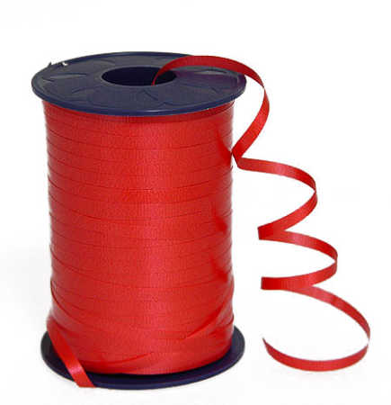 Bright Red Curling Ribbon