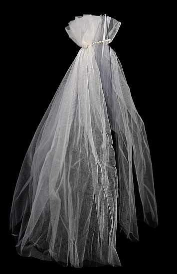 White Bridal Doll Veil - Doll Hats - Doll Making Supplies - Craft ...