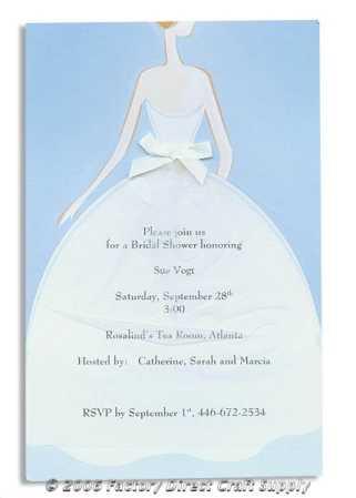 Bridal Shower Dress Complete Invitation Kit Creates 10 By Wilton Wedding