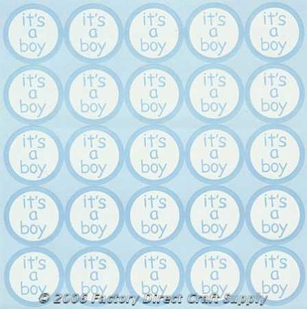 Its A Boy Baby Shower Labelsstickers 250pcs Its A Boy Theme