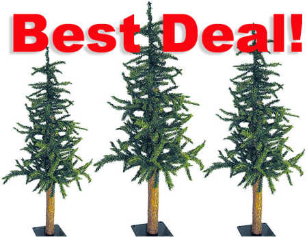 Skinny Artificial Christmas Trees