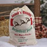 """""""Santa's Rooftop Reindeer Feed"""" Muslin Sack"""