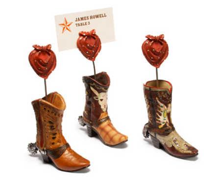 Western Cowboy Boot Placecard Holder Western Theme Wedding