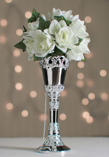 Silver Bridal Bouquet Holder : Silver wedding bouquet holder from wilton tussie mussie