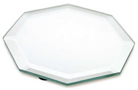 6 octagon beveled mirror centerpiece mirrors party for Octagon beveled mirror