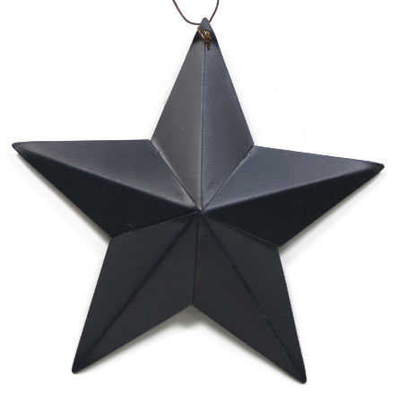 Primitive blue metal barn star wall decor home decor for Barn star decorations home