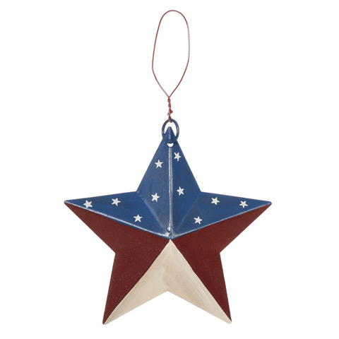5 1 4 mini primitive americana flag metal barn star for Barn star decorations home