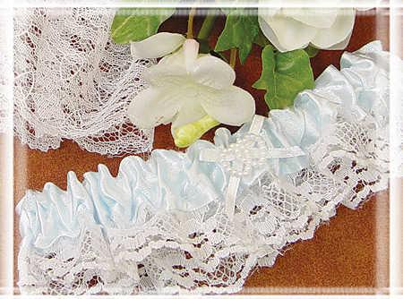Throw Away and Keep Blue Wedding Garter Set Garters Wedding Wear