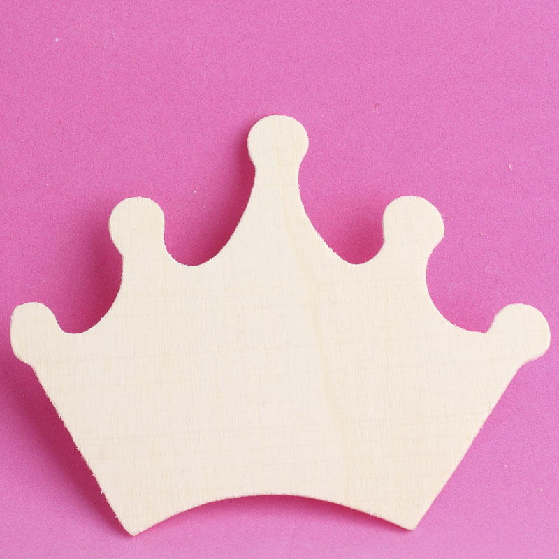 Unfinished Wood Princess Crown Cutout