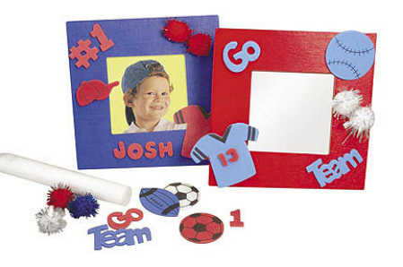 Wood & Foam Sport Picture Frame Craft Kit - Makes 8 - Activity Kits ...