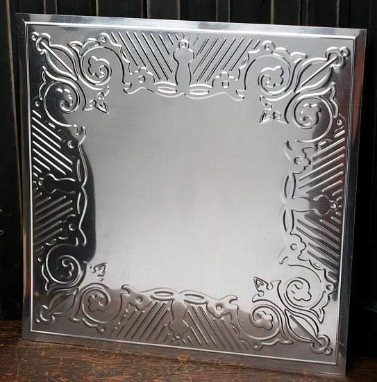 Metal Ceiling Panels : Galvanized metal vintage inspired ceiling tile