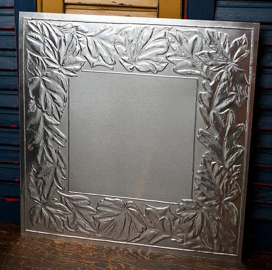 12 Galvanized Metal Vintage Look Tin Leaf Ceiling Tile Ceiling Tiles Home Decor