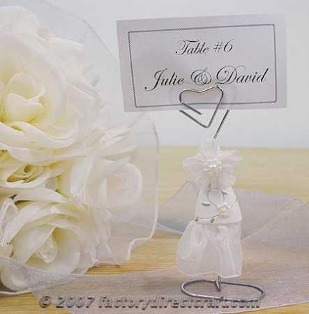 Wedding Dress Placecard Holder Placecards Place Card Holders