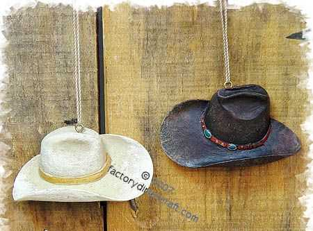 Resin Western Cowboy Theme Hat Ornament Western and Cowboy Weddings with