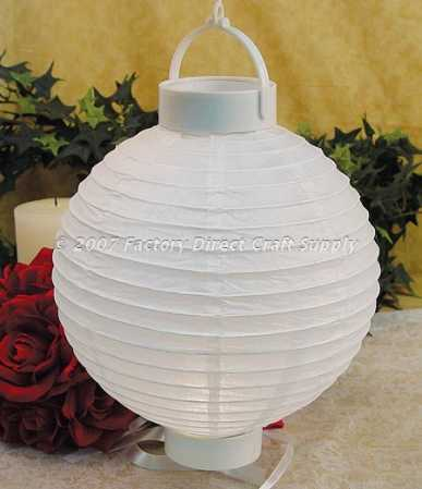 Decorative Battery Operated White Japanese Paper Lantern Light ...