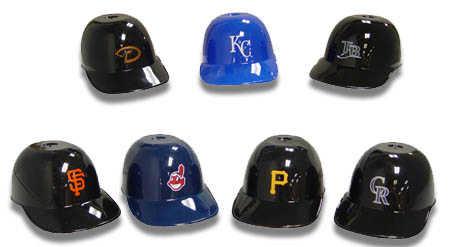asst team mini plastic baseball novelty cap doll hats