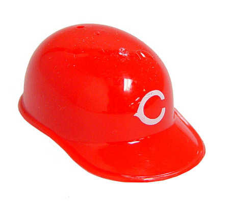 Set Of 4 Mini Novelty Cincinnati Reds Baseball Caps Doll