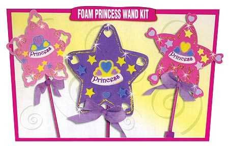 Creative hands foamie princess wands kit makes 30 projects for Princess wand craft kit