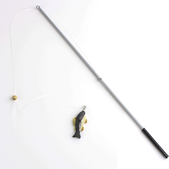 "9-1/2"" Miniature Fishing Pole With Mini Fish"