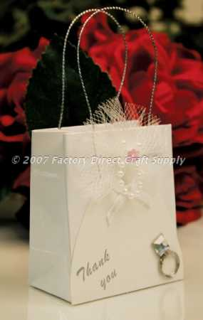 Wedding Gift Bags For Bridal Party : Wedding Dress Bridal Party Favor Gift BagsSet of 12Gift Bags ...