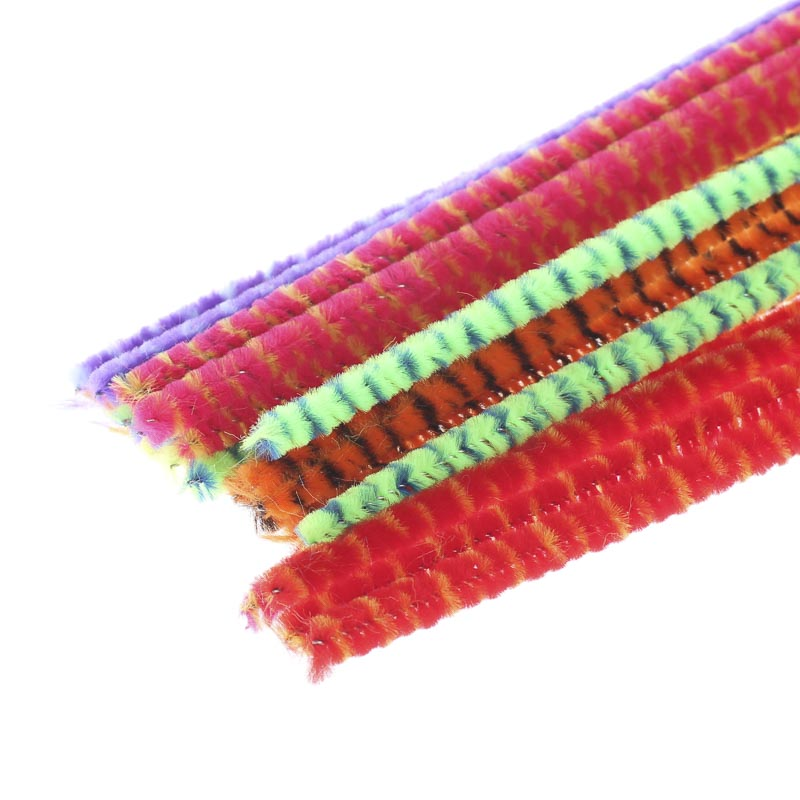 Bright Striped Pipe Cleaners Kids Crafts