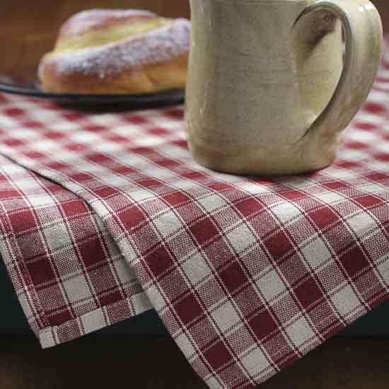 Red House Check Dish Towel