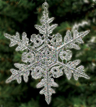 bfe2fc565 Iridescent Crystal Snowflake Ornaments - Christmas Ornaments ...