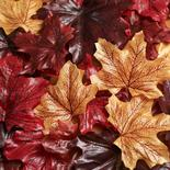 Rich Artificial Fall Maple Leaves