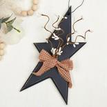 Rustic Wood Star Ornament