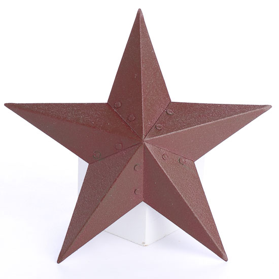 Red Star Wall Decor : Primitive red metal barn star wall decor home