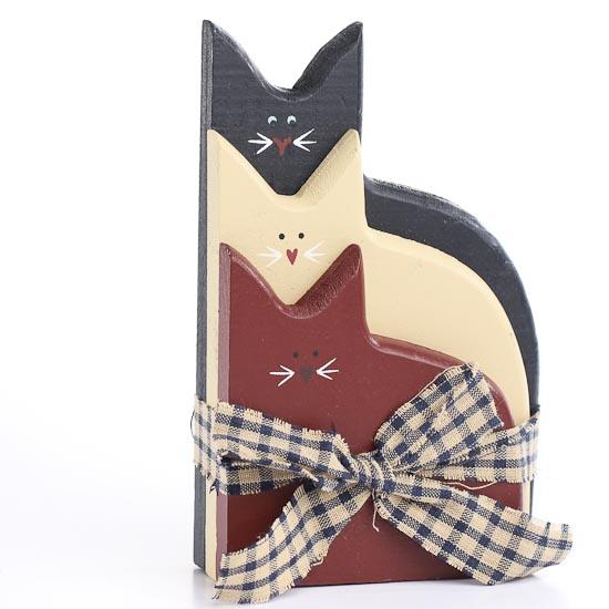 Primitive Home Decor Catalogs: Primitive Americana Wood Cats Grouping