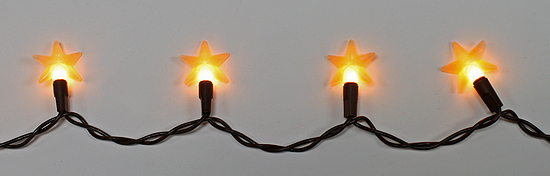 Primitive Electric Lights with 20 Mini Silicone Stars - Lighting - Primitive Decor