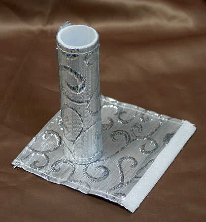 silver embroidered cake pillar covers wedding cake toppers wedding reception accessories. Black Bedroom Furniture Sets. Home Design Ideas