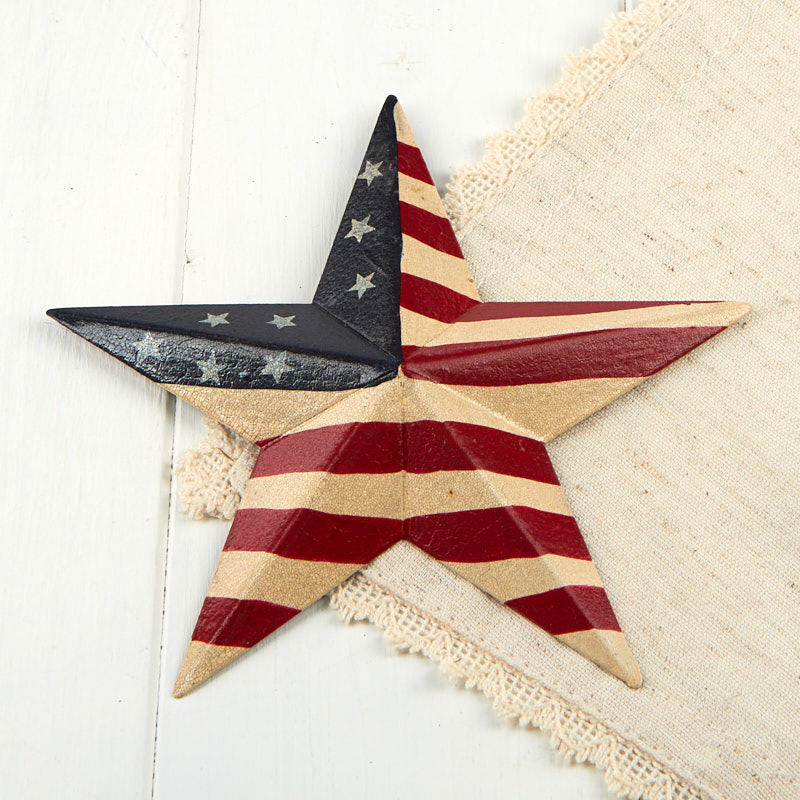 Primitive Americana Barn Star With Crackle Antique Finish