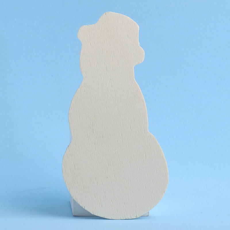 Unfinished wood snowman cutout holiday wood cutouts for Wooden christmas cutouts